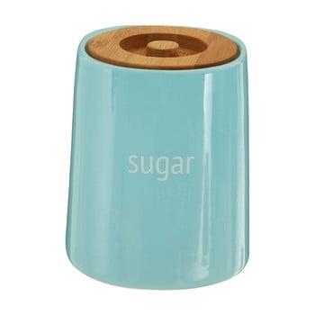Recipient pentru zahăr cu capac din lemn de bambus Premier Housewares Fletcher, 800 ml, albastru imagine