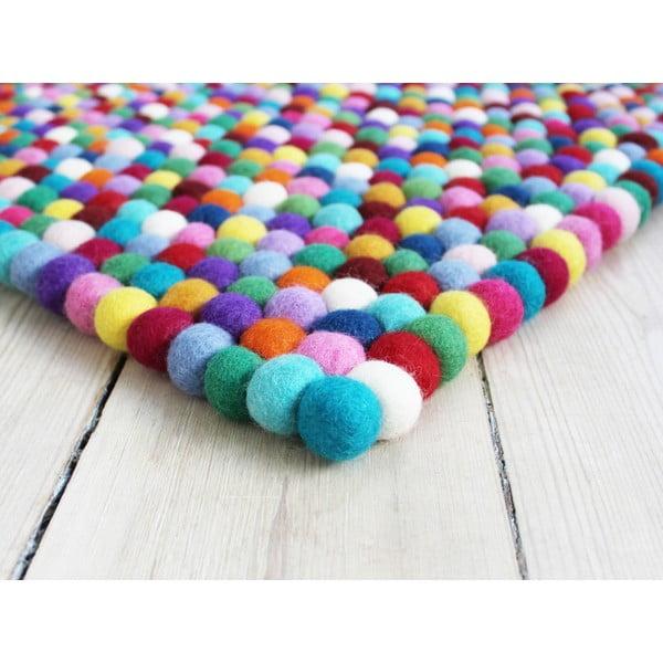 Guľôčkový vlnený koberec Wooldot Ball rugs Multi, 120 x 180 cm