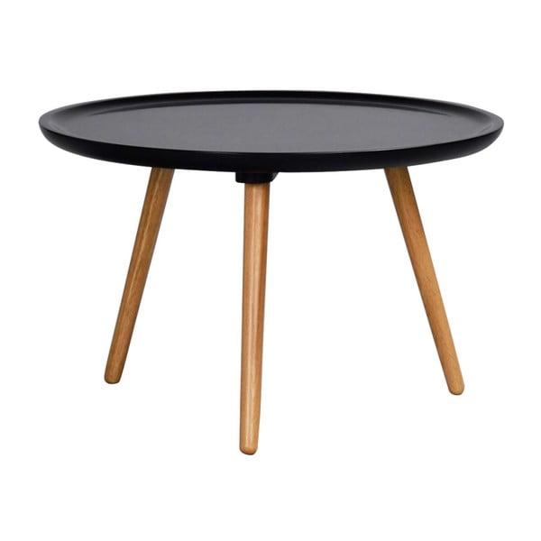Černý konferenční stolek Rowico Dellingr, ⌀ 55cm