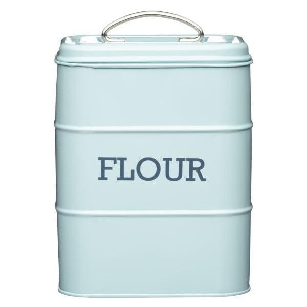 Modrá plechová dóza na mouku Kitchen Craft Flour