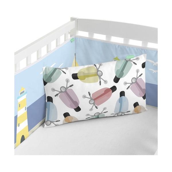 Textilní ohrádka do postýlky Happynois Summer Time, 210x40cm