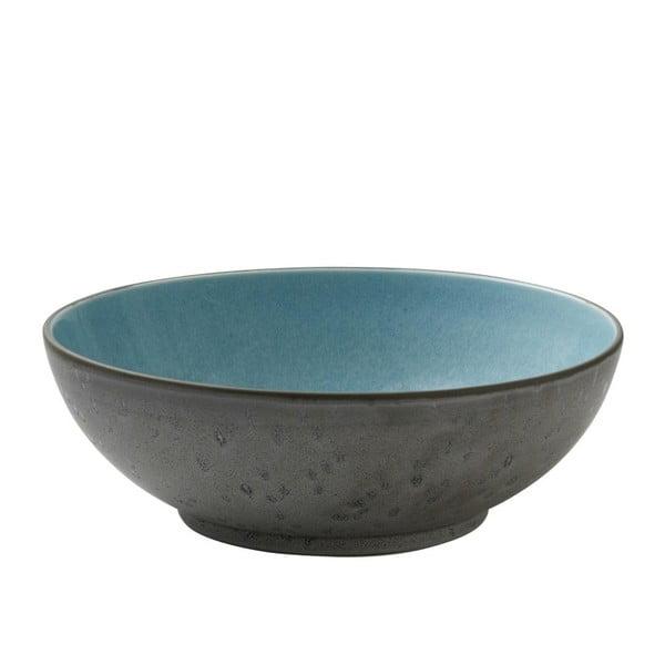 Bol din ceramică și glazură interioară albastru deschis Bitz Mensa, diametru 30 cm, gri