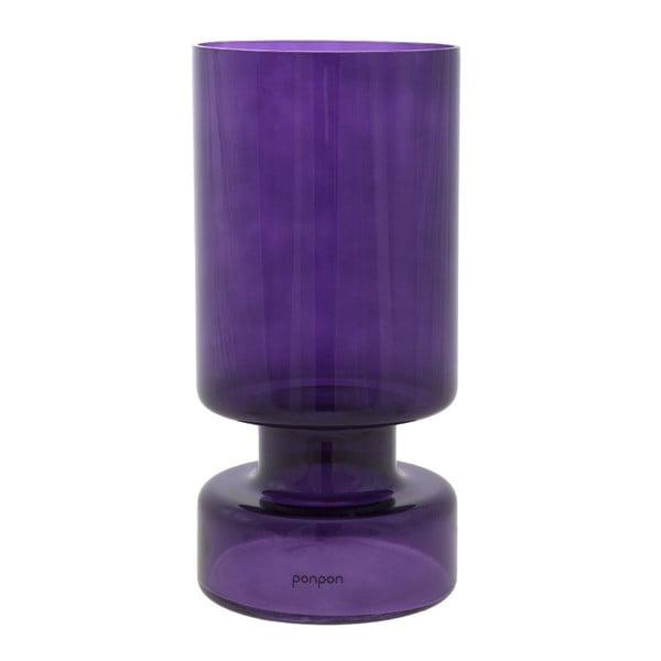 Váza/svícen Delhi 31 cm, fialová