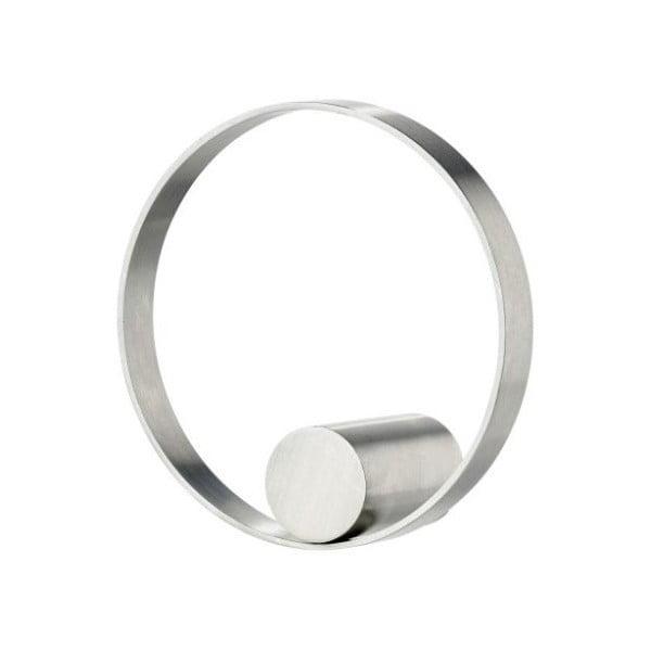 Ring rozsdamentes acél akasztó, ø 7,6 cm - zone
