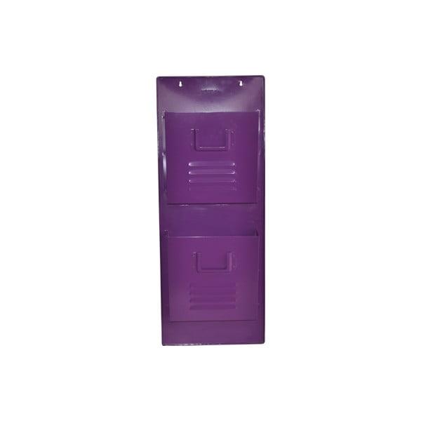 Nástěnný stojan na časopisy Waterguest, fialový