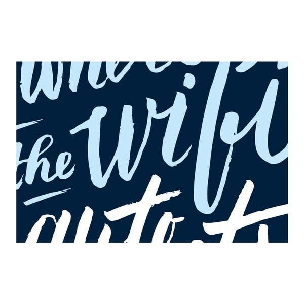 Plakát Wifi Auto Connects, A3