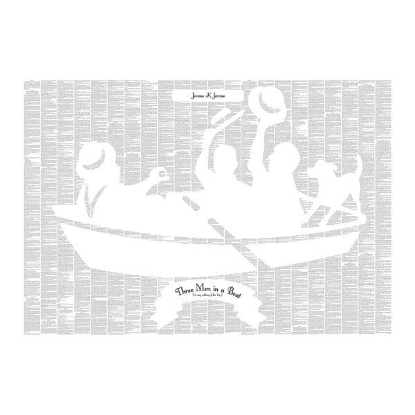 Knižní plakát Tři muži na člunu, 100x70 cm