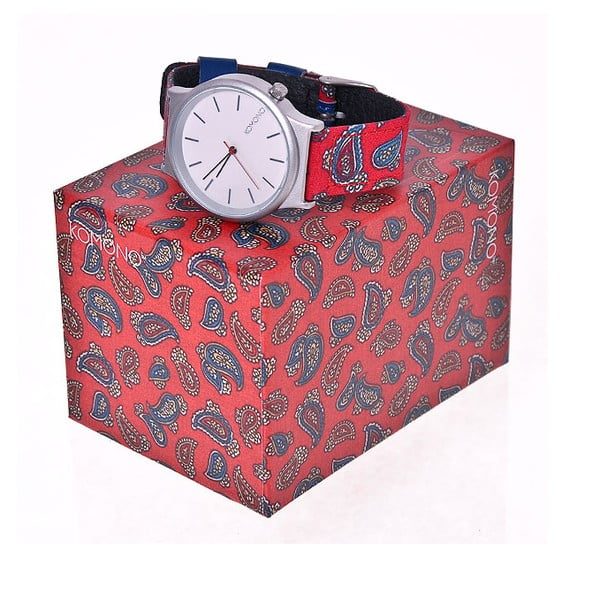 Hodinky Wizard Print Series Red Paisley