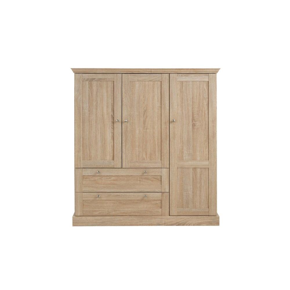 Třídveřová šatní skříň v dubovém dekoru Støraa Bruce