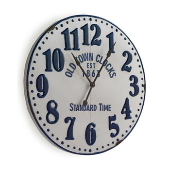 Ceas de perete Geese Standard, Ø 90 cm, alb