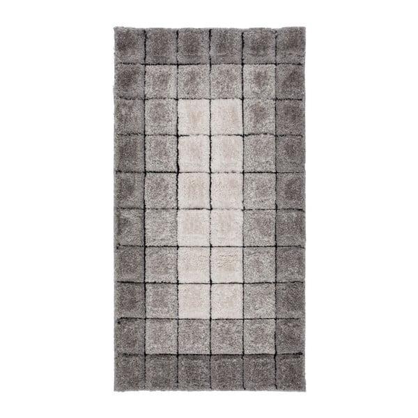 Dywan Flair Rugs Velvet 3D Cube Grey, 80x150 cm