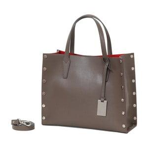 Béžová kabelka z pravé kůže Andrea Cardone Gavia