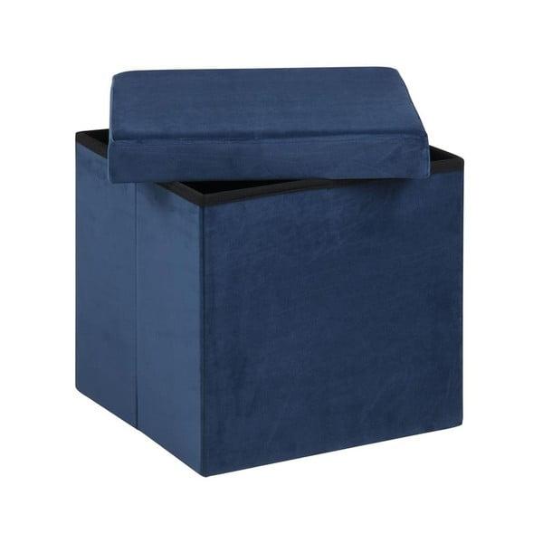 Taburet cu spațiu pentru depozitare Actona Set, albastru