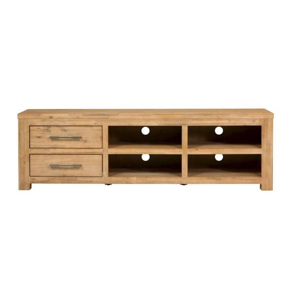 Široký TV stolek z akáciového dřeva SOB Seaside