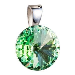 Zelený přívěsek ze stříbra se Swarovski krystalem Je Veux Herno