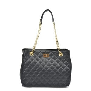 Černá kožená kabelka Isabella Rhea Verde