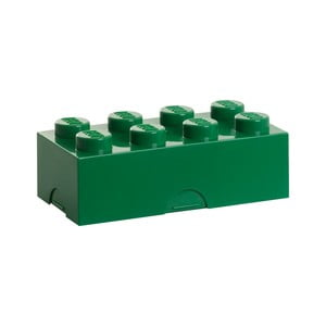 Tmavě zelený svačinový box LEGO®