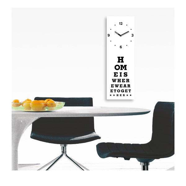Hodiny Home Is Clock, 20x60 cm
