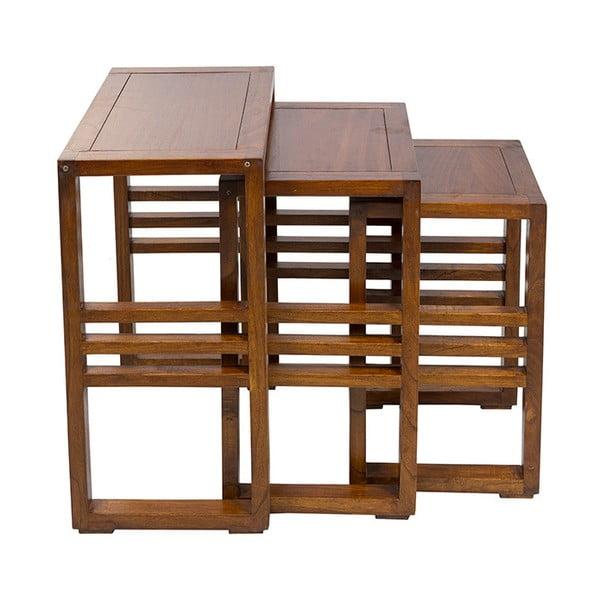 Sada 3 odkládacích stolků ze dřeva mindi Santiago Pons Abirad