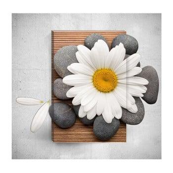 Tablou de perete 3D Mosticx Daisy With Pebbles, 40 x 60 cm