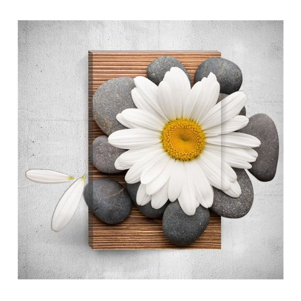 Tablou de perete 3D Mosticx Daisy With Pebbles, 40 x 60 cm