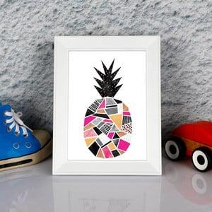 Zarámovaný obraz Dekorjinal Pouff Surreal Pink Peanapple, 23x17cm