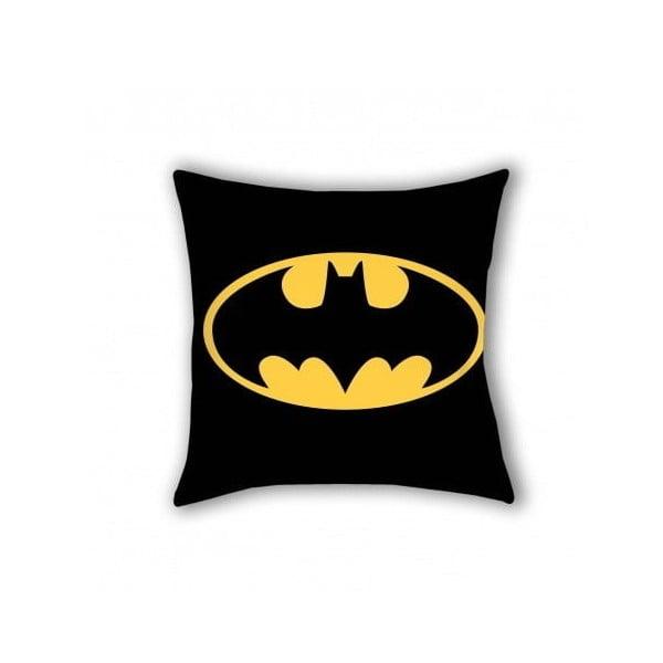 Pernă din bumbac pentru copii Halantex Batman, 40 x 40 cm, negru