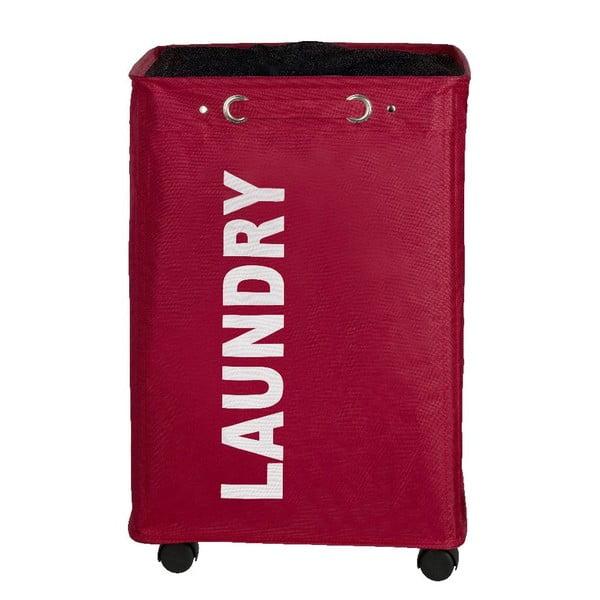 Červený koš na prádlo Wenko Quadro