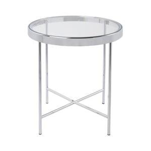 Bílý příruční stolek Leitmotiv Smooth, 42,5 x 46 cm
