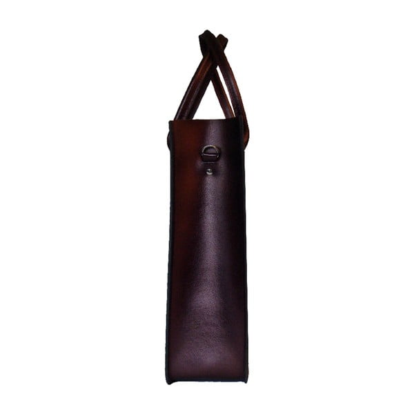 Kožená kabelka Two Tone Plum Croc/Metallic