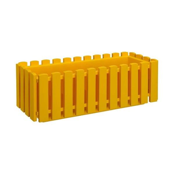 Žlutý samozavlažovací truhlík Gardenico Fency Smart System, délka 75cm