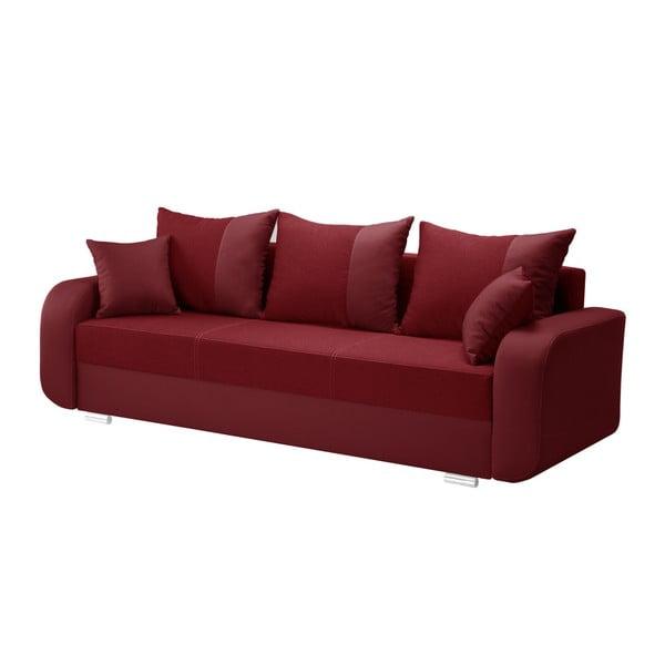 Canapea cu 3 locuri INTERIEUR DE FAMILLE PARIS Destin, roșu