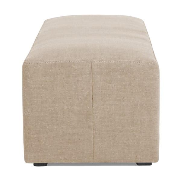 Puf v přírodní barvě Vivonita Scarlet Linen, 105x39cm
