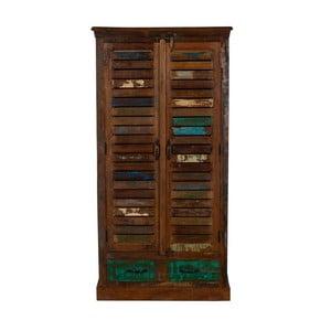 Skříň z recyklovaného dřeva Woodking Colour