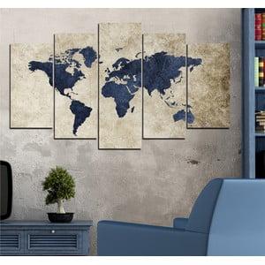 5dílný obraz Svět