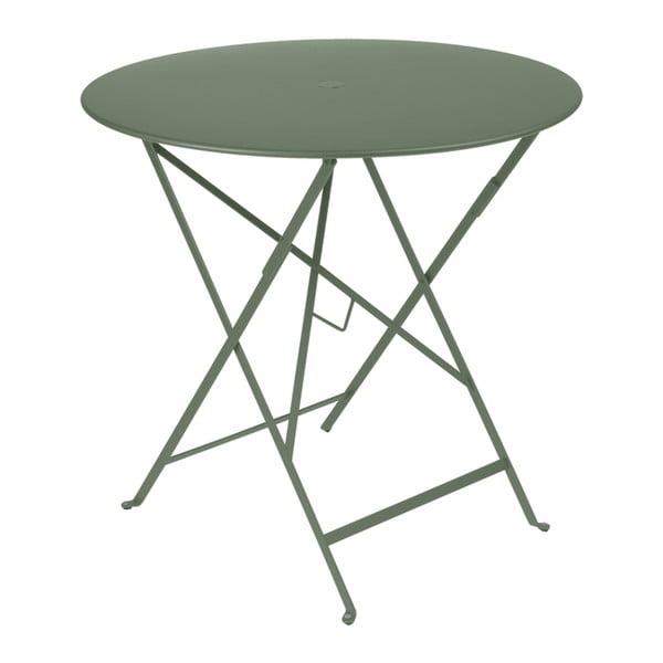 Šedozelený zahradní stolek Fermob Bistro, Ø 77 cm