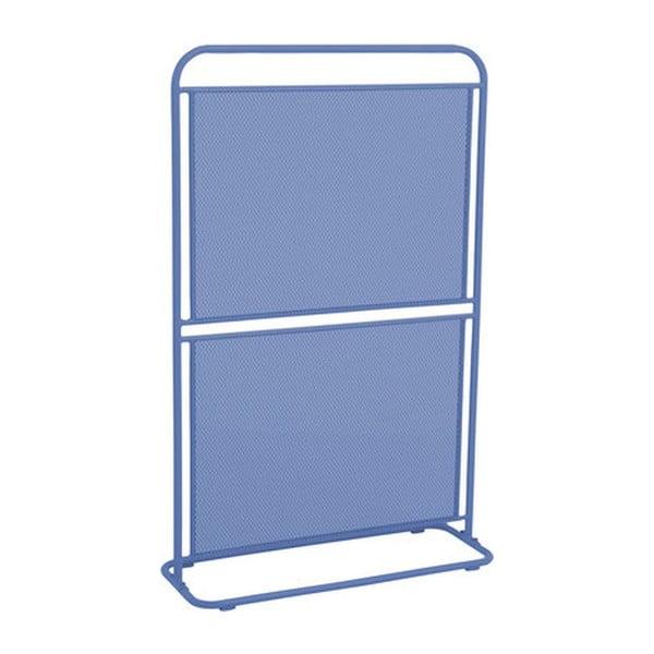 Modrá kovová zástena na balkón ADDU MWH, 124 x 80 cm