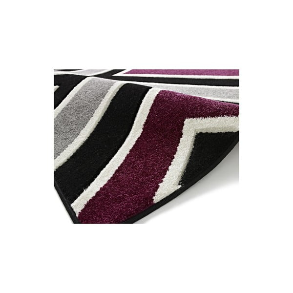 Koberec Matrix Black Violet, 120x170 cm