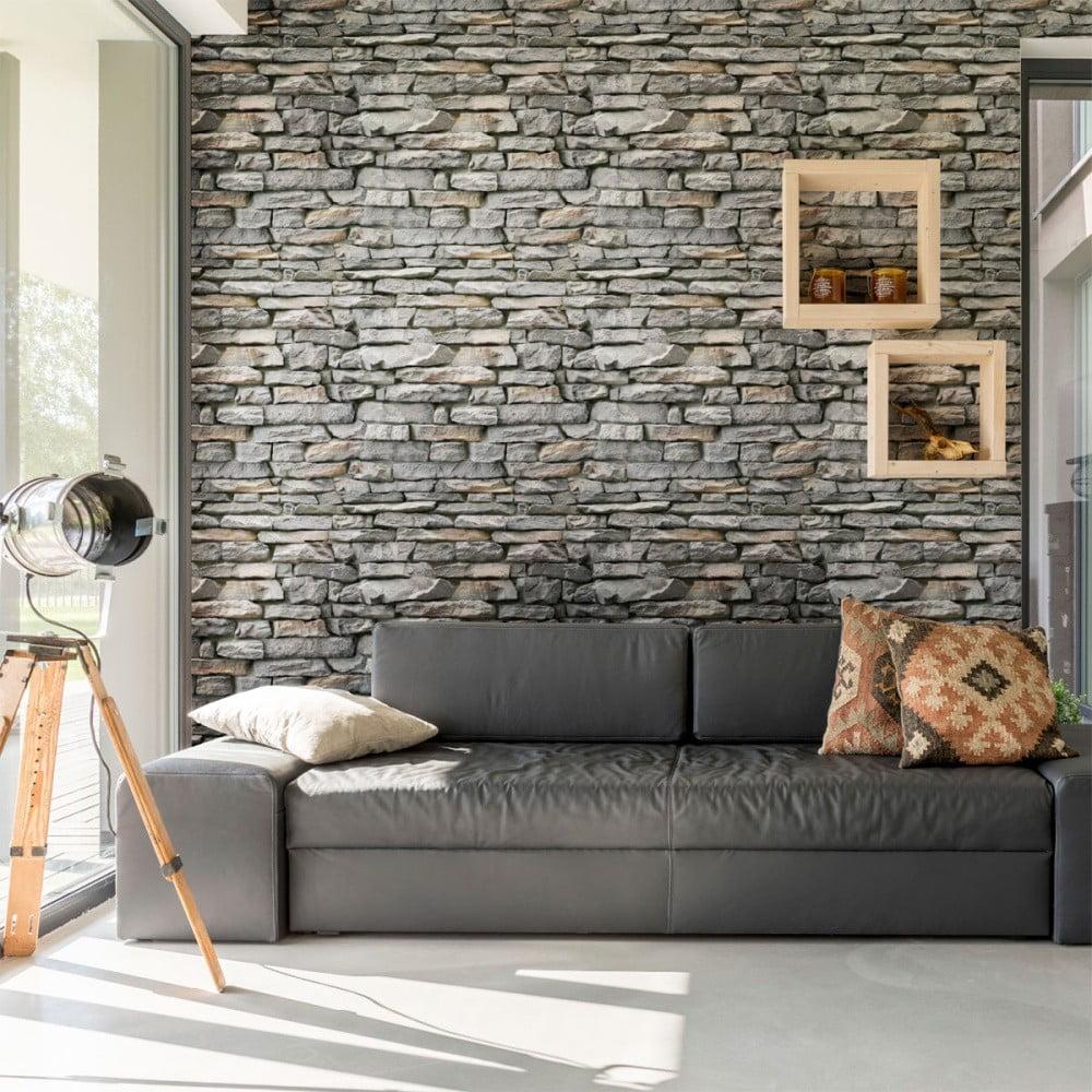 Dekorativní samolepka na zeď Ambiance Ardennes Stone,40x40cm