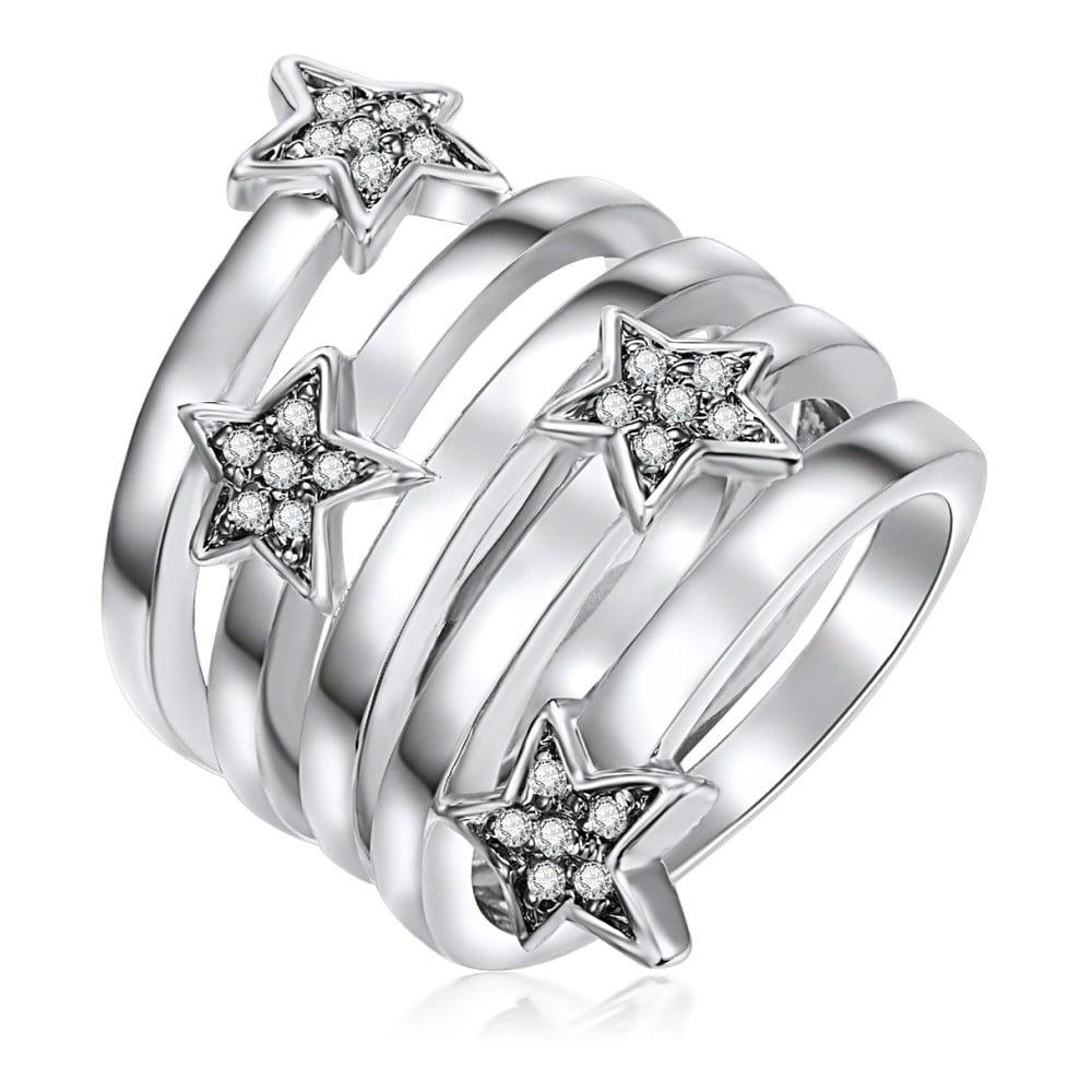 Dámský prsten ve stříbrné barvě se zirkony Runaway Christine, vel. 57