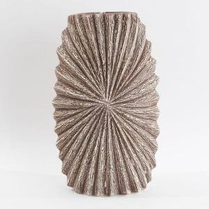 Keramická váza, béžová/hnědá, 30 cm