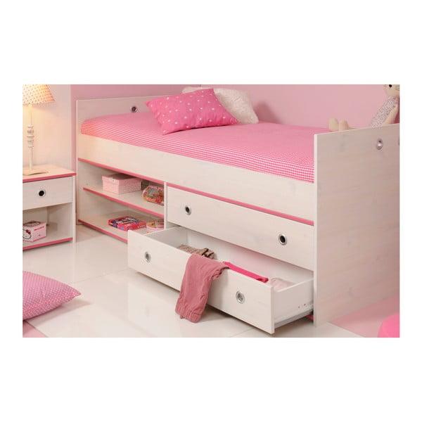 Jednolůžková postel v dekoru borovicového dřeva Parisot Amoux, 90x190cm
