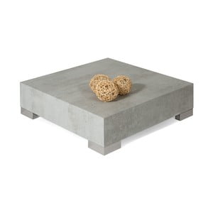 Măsuță de cafea decor gri beton MobiliFiver Icube, 60 x 60 cm