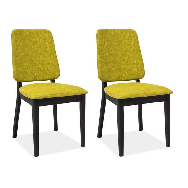 Sada 2 jídelních židlí Fiori Green Tea