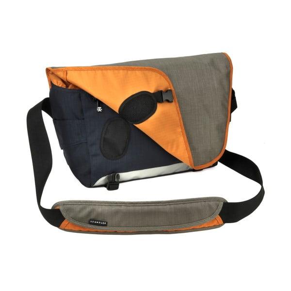 Brašna na laptop Dinky Di Laptop Messenger L, dusty khaki / pumpkin orange