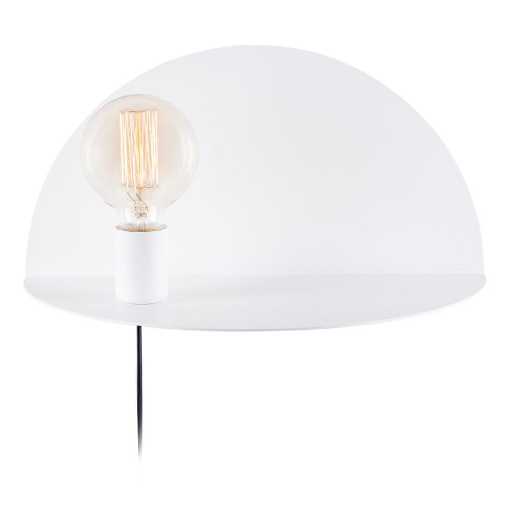 Bílá nástěnná lampa s poličkou Shelfie Bella