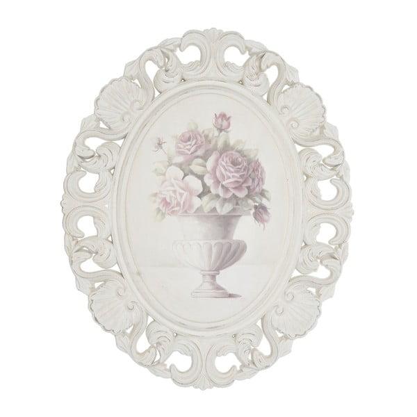 Dřevěný obraz v rámu Pink Roses, 44x54 cm