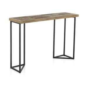 Konzolový stolek s deskou z jilmového dřeva Geese Lea, výška 83cm