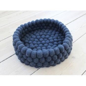 Coș depozitare, cu bile din lână Wooldot Ball Basket, ⌀ 28 cm, albastru închis imagine