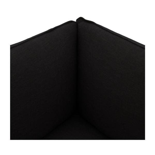 Tmavě hnědá trojmístná pohovka s podnožkou Vivonita Cube